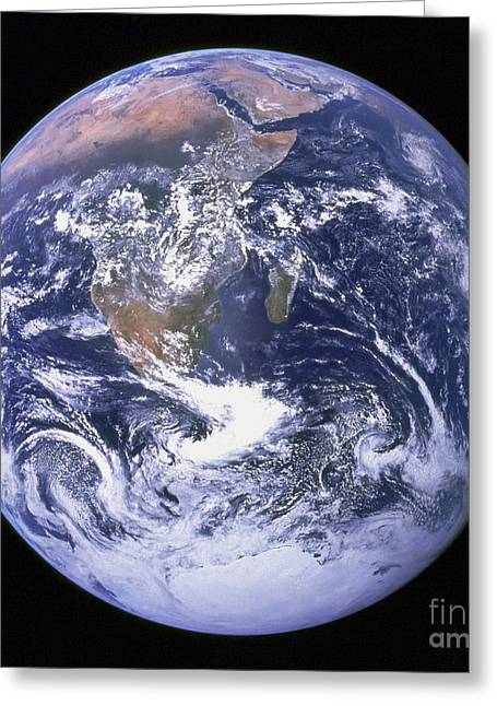 Full Earth Greeting Card by Stocktrek Images