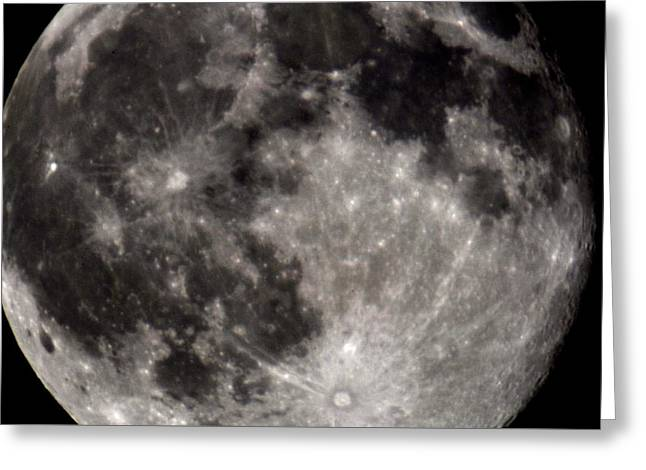 Mare Imbrium Greeting Cards - Full Moon 7-31-15 Greeting Card by Michelle McPhillips