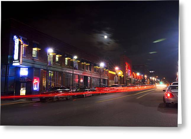 Kansas City Greeting Cards - Full Moon and Night Clubs Greeting Card by Sven Brogren