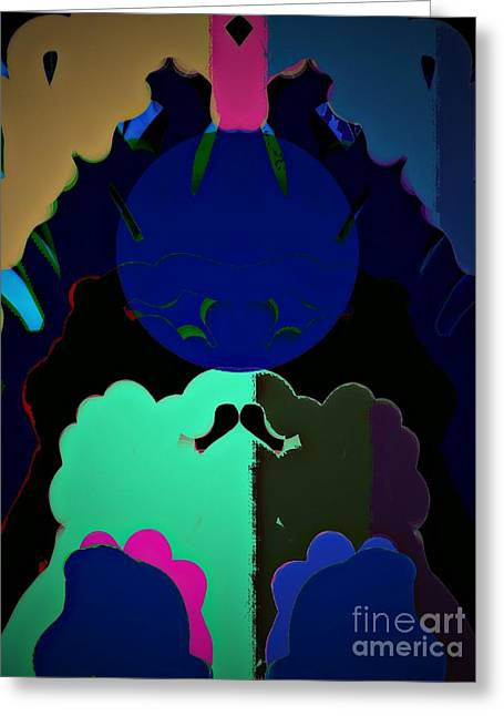 Full Moon Chaos Greeting Card by Marie Ward-Alonge