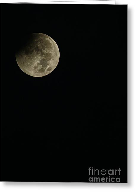Luna Greeting Cards - Full Moon Eclipse Greeting Card by Thomas R Fletcher