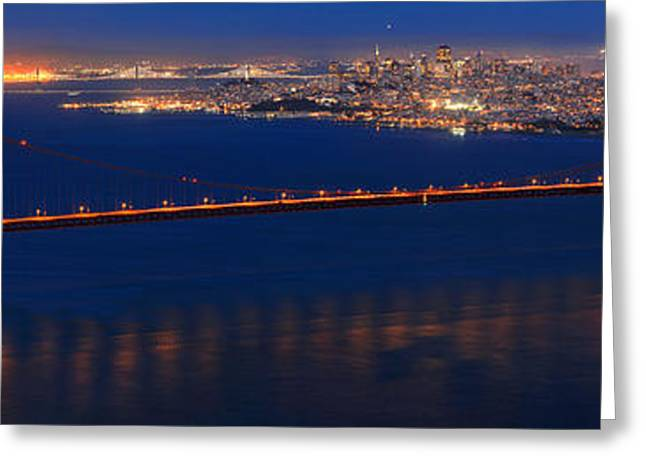 Full Moon Over San Francisco Greeting Card by Adam Jewell