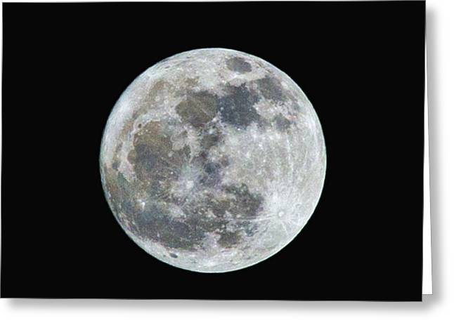 Frank Feliciano Greeting Cards - Full Moon Over Tallahassee in HDR Greeting Card by Frank Feliciano