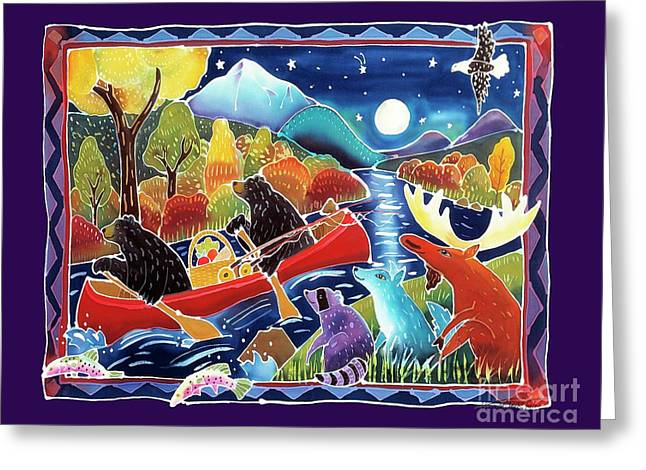 Full Moon Paddle Greeting Card by Harriet Peck Taylor