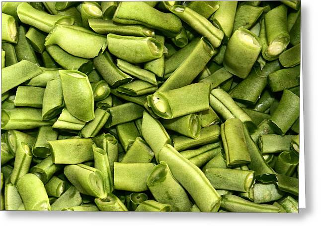 Green Beans Greeting Cards - Full of Beans Greeting Card by Kevin F Cook