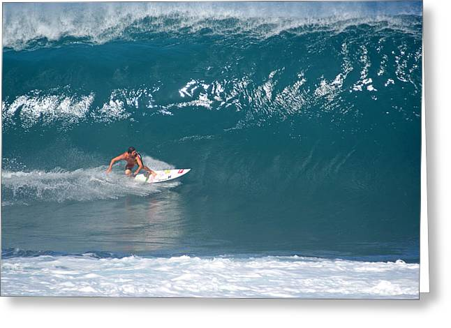 Banzai Pipeline Greeting Cards - Full Tilt Boogie Greeting Card by Kevin Smith