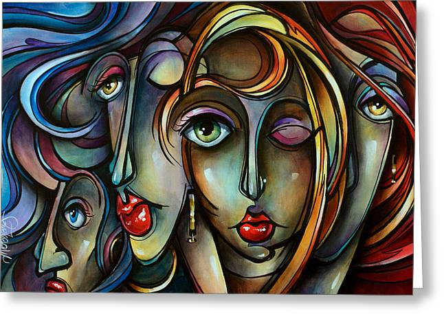 Flowing Hair Greeting Cards - Full Tilt Greeting Card by Michael Lang