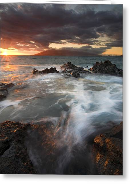 Maui Greeting Cards - Full to the Brim Greeting Card by Mike  Dawson