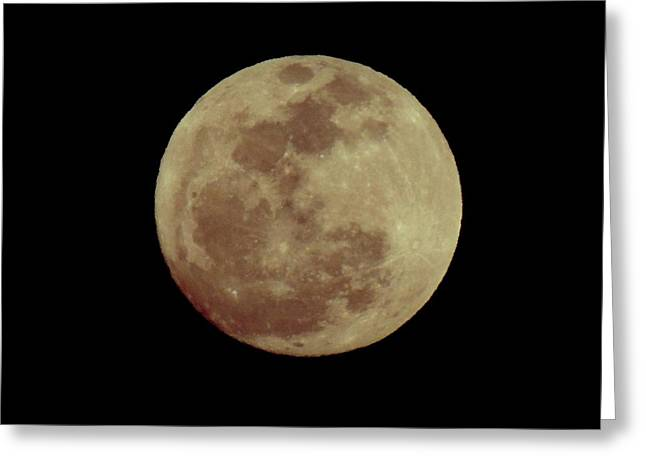 Sea Moon Full Moon Greeting Cards - Full Worm Moon Greeting Card by Eileen Swanson