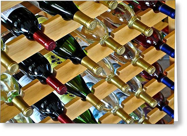 Wine Rack Greeting Cards - Fully Loaded Greeting Card by Frozen in Time Fine Art Photography