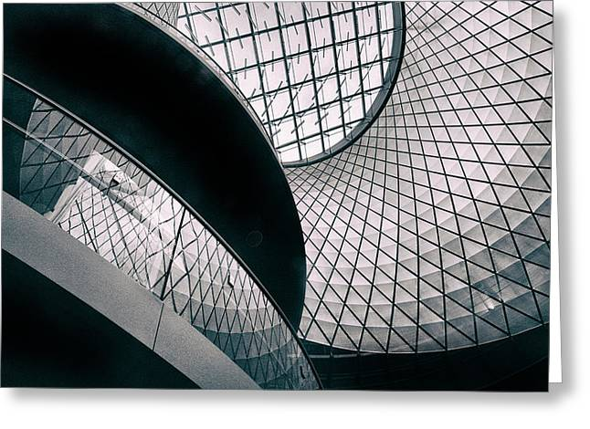 Fulton Station Abstract Greeting Card by Jessica Jenney