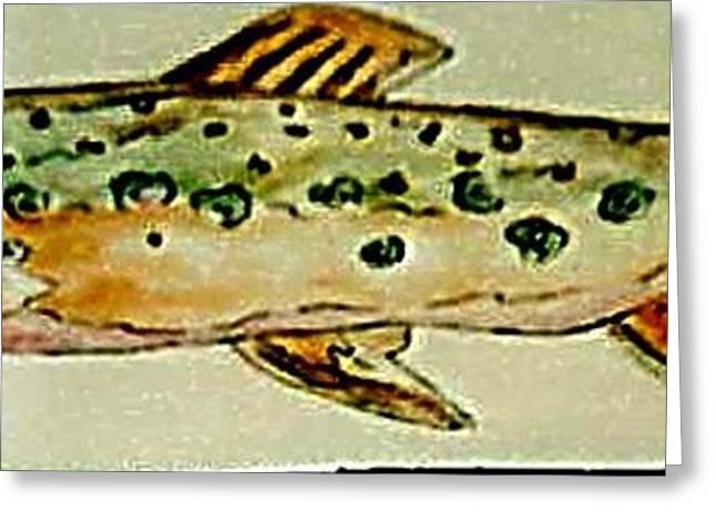 Fishes Ceramics Greeting Cards - Fun Fish Greeting Card by Sandra Maddox