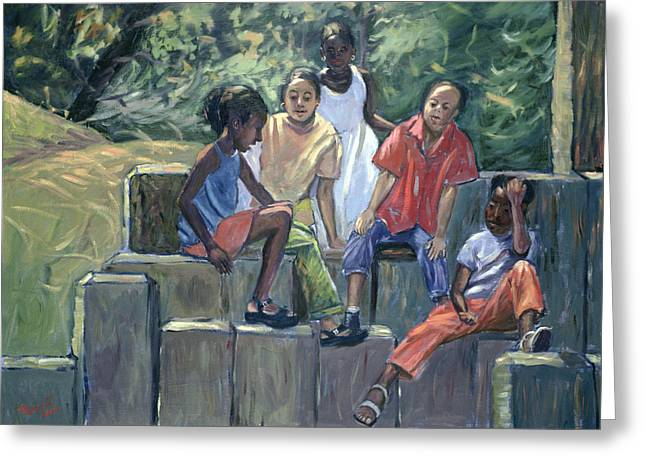 African American Artist Greeting Cards - Fun in the Park Greeting Card by Carlton Murrell