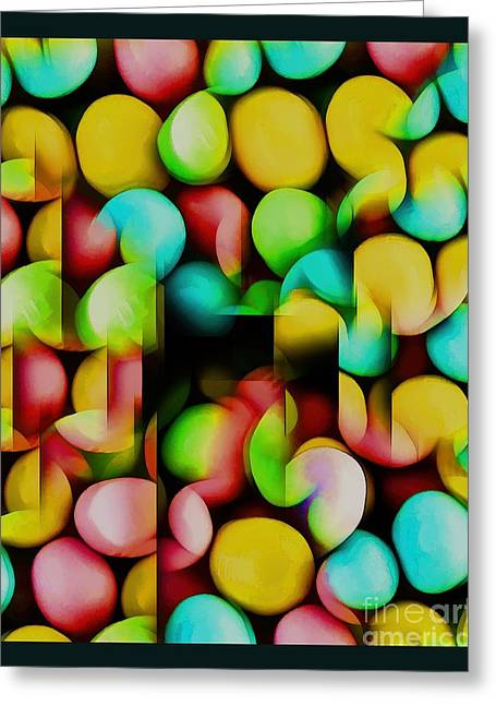 Youthful Greeting Cards - Fun with Candy Greeting Card by Pamela Blizzard
