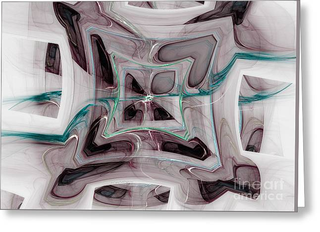 Abstract Geometric Greeting Cards - Funky Borders Greeting Card by Jane Spaulding
