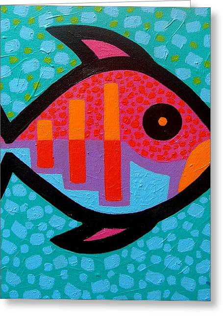 Decorative Fish Greeting Cards - Funky Fish III  Greeting Card by John  Nolan