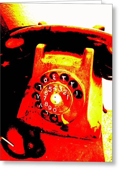 Funky Lebanese 1945 Phone  Greeting Card by Funkpix Photo Hunter