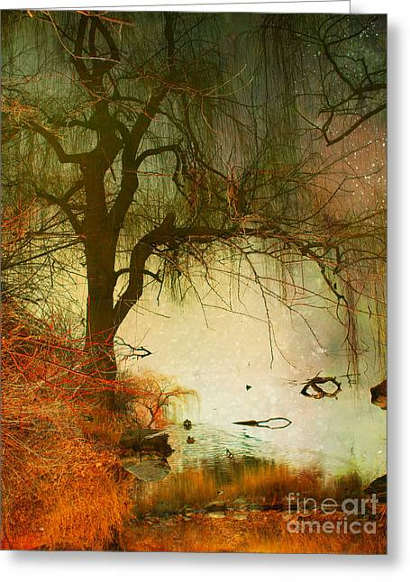 Refection Greeting Cards - Funky Reflections 2 Greeting Card by Tara Turner