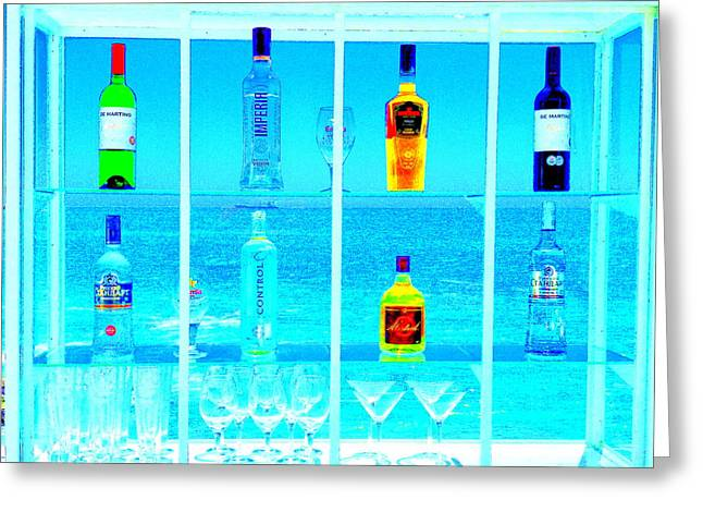 Funky Seaside Paradise Bar In Valaparaiso Greeting Card by Funkpix Photo Hunter