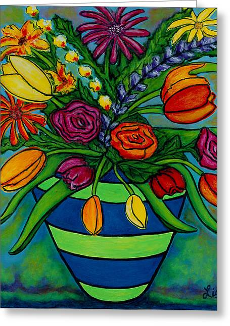 Lisa Lorenz Greeting Cards - Funky Town Bouquet Greeting Card by Lisa  Lorenz