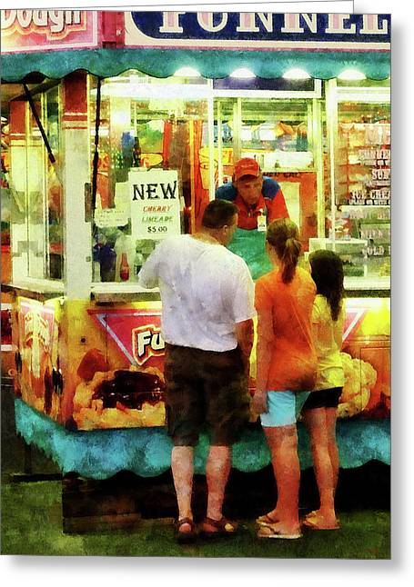 Carnivals Greeting Cards - Funnel Cake Greeting Card by Susan Savad