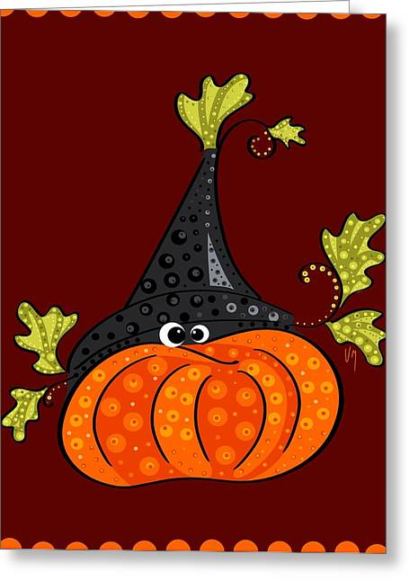 Funny Halloween Greeting Card by Veronica Minozzi