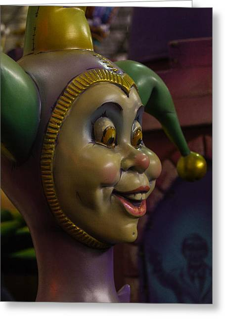 Mardi Gras Greeting Cards - Funny Jester Greeting Card by Garry Gay