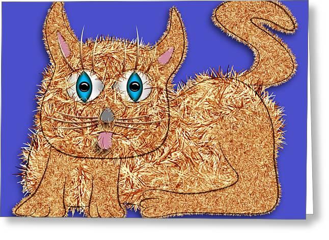 Eyelash Greeting Cards - Fur Greeting Card by Becky Titus