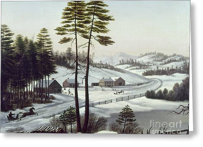Montreal Paintings Greeting Cards - Furbishs Dash To Montreal Greeting Card by Granger