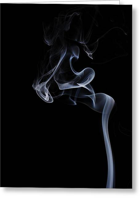 Smoke Art Greeting Cards - Furious Greeting Card by Bryan Steffy