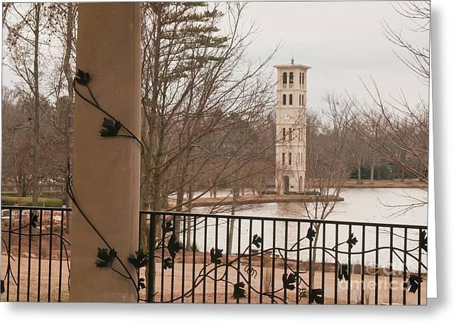 Furman Greeting Cards - Furman Bell Tower 1 Greeting Card by David Waldrop