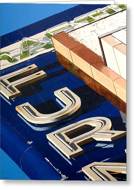 Photorealism Greeting Cards - Furn Greeting Card by Rob De Vries