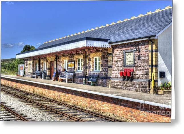 Platform. Level Greeting Cards - Furnace Sidings Railway Station 2 Greeting Card by Steve Purnell