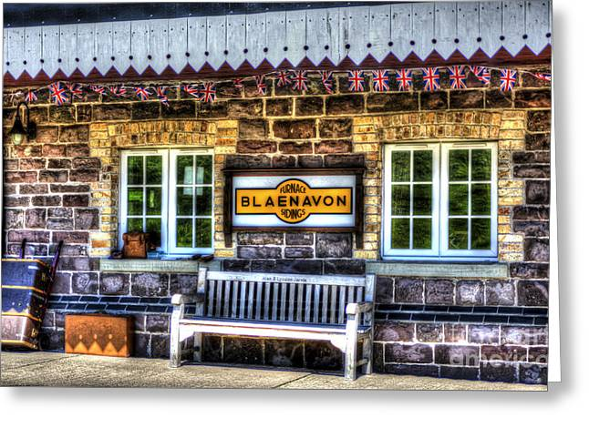 Platform. Level Greeting Cards - Furnace Sidings Railway Station 3 Greeting Card by Steve Purnell
