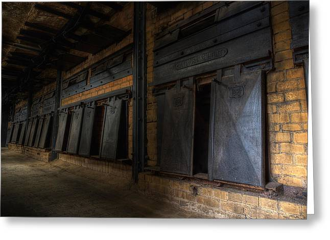 Industrial Concept Greeting Cards - Furnaces In Abandoned Factory Greeting Card by Frank Meitzke