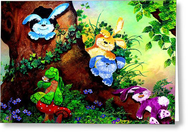 Furry Forest Friends Greeting Card by Hanne Lore Koehler