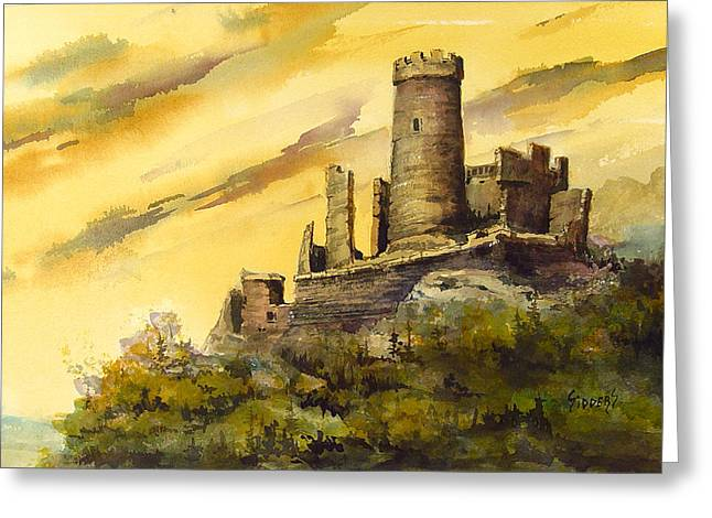 Castles Greeting Cards - Furstenburg On The Rhine Greeting Card by Sam Sidders