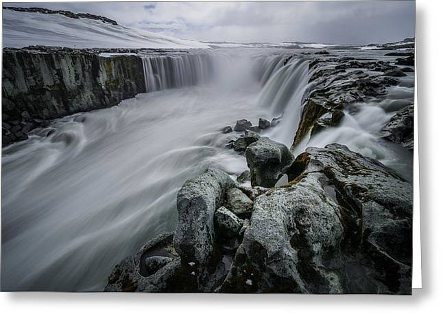 Fury Of Water Greeting Card by Pierre Destribats