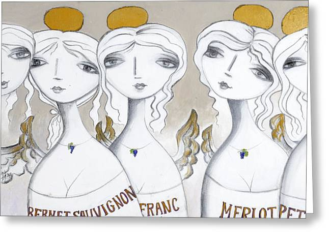Fusion Of Five Greeting Card by Beti Kristof