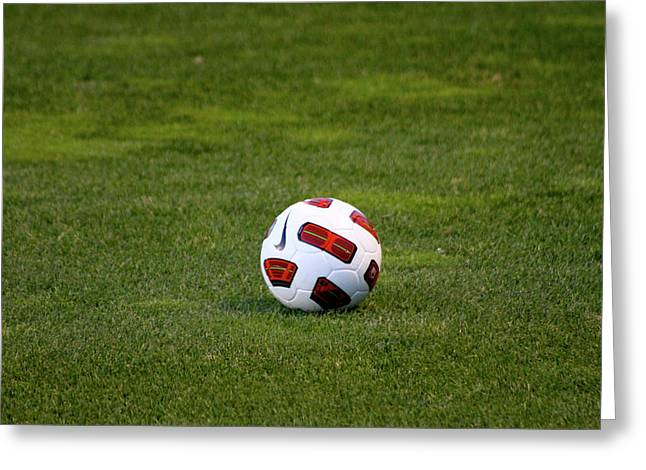 Nike Photographs Greeting Cards - Futbol Greeting Card by Laddie Halupa