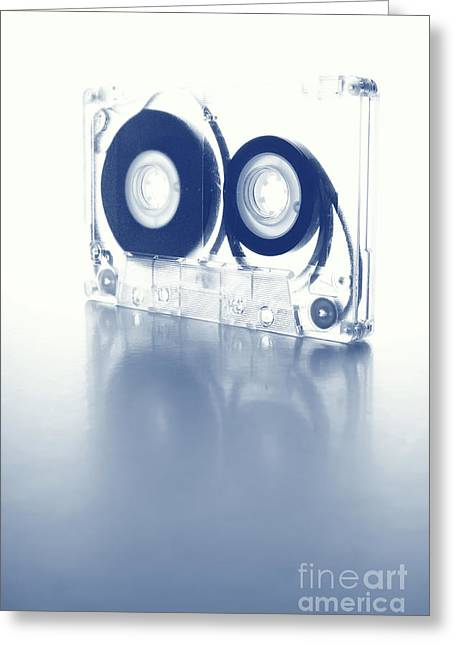 80s Greeting Cards - Future Relic. Cyanotype Digital Art Greeting Card by Angelo DeVal