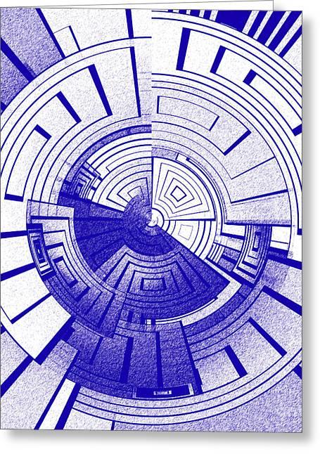 Futuristic Abstract Greeting Card by Gaspar Avila