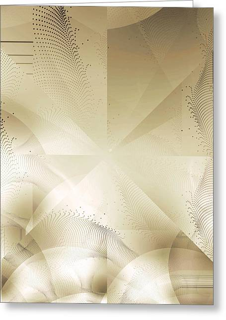 Futuristic Gold Abstract Greeting Card by Robert G Kernodle