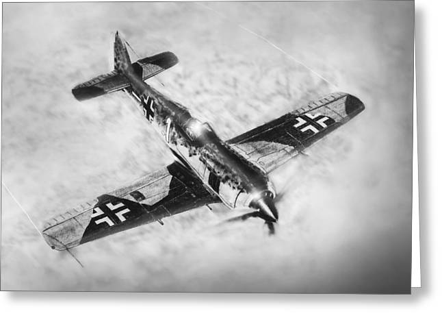 Military Airplanes Greeting Cards - Fw-109a Greeting Card by Douglas Castleman