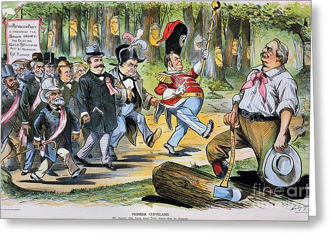 Dalrymple Greeting Cards - G. Cleveland Cartoon, 1896 Greeting Card by Granger