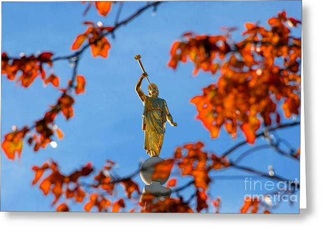 Salt Lake City Temple Photography Greeting Cards - Gabriels trumpet Greeting Card by David Lee Thompson