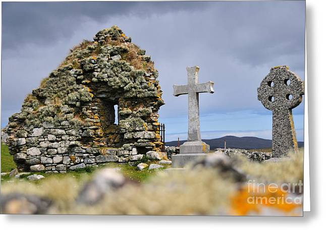 Gaelic Headstone Greeting Card by Stephen Smith