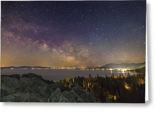 South Lake Tahoe Greeting Cards - Galactic Breath Greeting Card by Jeremy Jensen