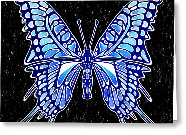Galactic Butterfly Greeting Card by Kasia Bitner