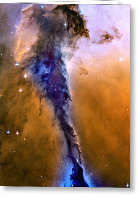 Astronomers Greeting Cards - Galactic Mermaid Greeting Card by Jon Neidert